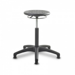 Bristol Maid Medium PU TechnoStools Medical Stool with Foot Ring and Glides