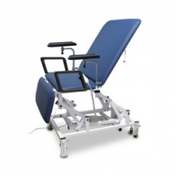 Bristol Maid Electric Three-Section Bariatric Phlebotomy Chair with Foot Switch