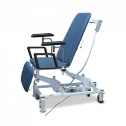 Bristol Maid Electric Three-Section Phlebotomy Chair with Foot Switch