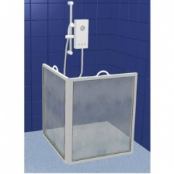 Contour Extra Height Two-Panel Carerscreen Shower Screen