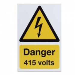 'Danger 415 Volts' Hazard Sign