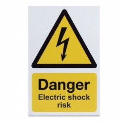 'Danger Electric Shock Risk' Warning Sign