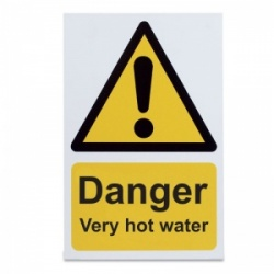 'Danger Very Hot Water' Warning Sign