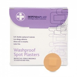 Dependaplast Washproof Spot Plasters (Pack of 100)