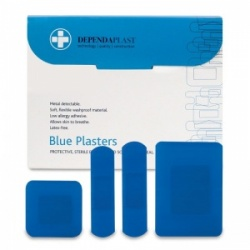 Dependaplast Advanced Blue Assorted Plasters (Pack of 100)