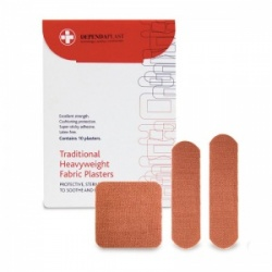 Dependaplast Traditional Fabric Assorted Plasters  (Pack of 10)