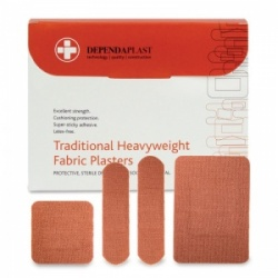 Dependaplast Traditional Fabric Assorted Plasters (Pack of 100)