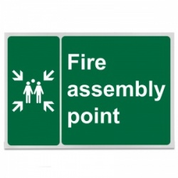 'Fire Assembly Point' Safety Sign