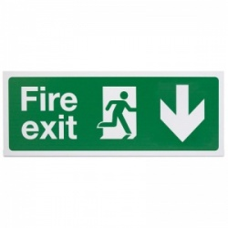 'Fire Exit Down' Safety Sign