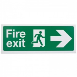 'Fire Exit Right' Safety Sign