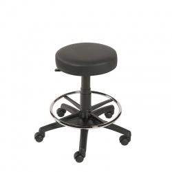 Sunflower Medical Black Gas-Lift Stool with Foot Ring