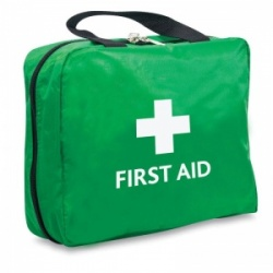 Green Two-in-One First Aid Bag (Empty)