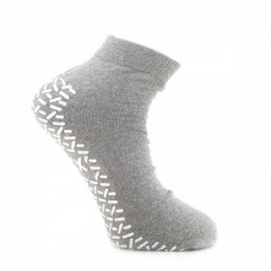 Medline Single Tread XX-Large Grey Slipper Socks (Five Pairs)