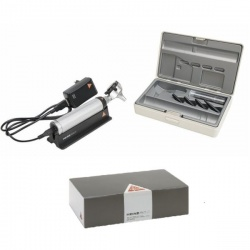 HEINE BETA 400 LED F.O Otoscope Set with 1000 Disposable Tips Saver Pack