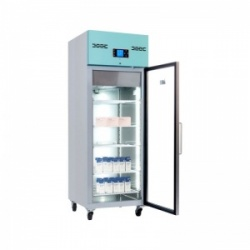 Lec PGR600UK Large Glass-Door Freestanding Pharmacy Refrigerator (600L)
