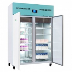 Lec PSR1200UK Large Solid Double-Door Freestanding Pharmacy Refrigerator (1200L)