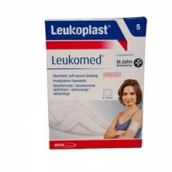 Leukoplast Leukomed Absorbent Wound Dressings 8 x 10cm (Pack of 5)