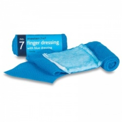 Masterchef Blue Finger Dressings with Bandage