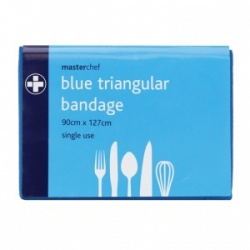 Masterchef Single Use Blue Triangular Bandage