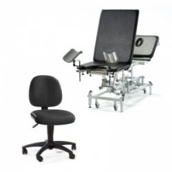Medicare Deluxe GP Gynaecology Couch and Operator Chair