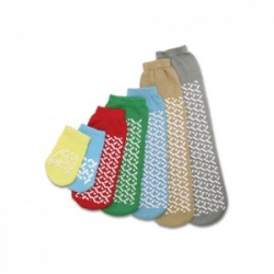 Medline Single Tread Teal Non-Slip Socks for Toddlers (Five Pairs)