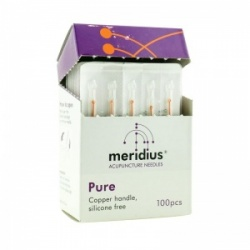 Meridius Pure Acupuncture Needles with Copper Handles (Pack of 100)