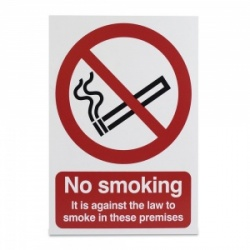 'No Smoking, It Is Against the Law' Warning Sign