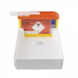 POUDS Combination Tray for Sharpsguard 1L and 2.5L Sharps Containers (Case of 25)