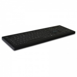 Purekeys Infection Control Black Wireless Medical Keyboard