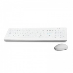 Purekeys White Infection Control Wireless Medical Keyboard and Mouse Combination Pack