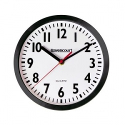 Large Shatterproof Easy-to-See Quartz Wall Clock (Pack of 5)