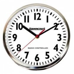 Radio-Controlled Easy-to-See Wall Clock (Pack of 5)