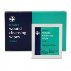 Reliwipe Sterile Wound Cleansing Wipes Refill Pack