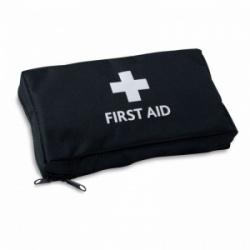 Small Black Zipped First Aid Pouch (Empty)
