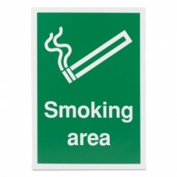 'Smoking Area' Safety Sign