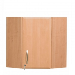 Sunflower Medical 100cm Corner Wall Cabinet in Beech