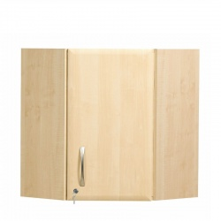 Sunflower Medical 100cm Corner Wall Cabinet in Maple