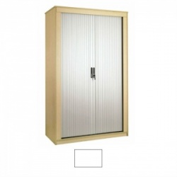 Sunflower Medical White 160cm Tall Tambour Unit