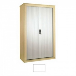 Sunflower Medical White 200cm Tall Tambour Unit
