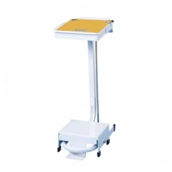 Sunflower Medical 20 Litre Free-Standing Sack Holder with Yellow Lid for Incineration