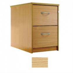 Sunflower Medical Japanese Ash Two-Drawer Filing Cabinet