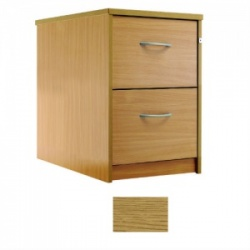 Sunflower Medical Modern Oak Two-Drawer Filing Cabinet