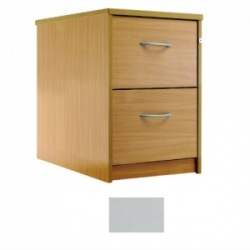 Sunflower Medical Plain Grey Two-Drawer Filing Cabinet