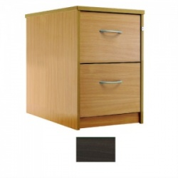 Sunflower Medical Walnut Two-Drawer Filing Cabinet