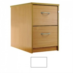 Sunflower Medical White Two-Drawer Filing Cabinet