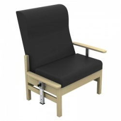 Sunflower Medical Atlas Black High-Back Intervene Bariatric Patient Armchair with Drop Arms