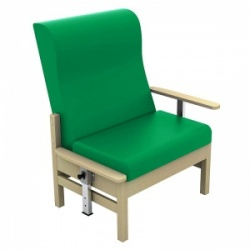 Sunflower Medical Atlas Green High-Back Intervene Bariatric Patient Armchair with Drop Arms