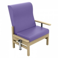 Sunflower Medical Atlas Lilac High-Back Vinyl Bariatric Patient Armchair with Drop Arms
