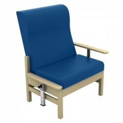 Sunflower Medical Atlas Navy High-Back Intervene Bariatric Patient Armchair with Drop Arms