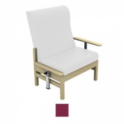 Sunflower Medical Atlas Plum High-Back Intervene Bariatric Patient Armchair with Drop Arms